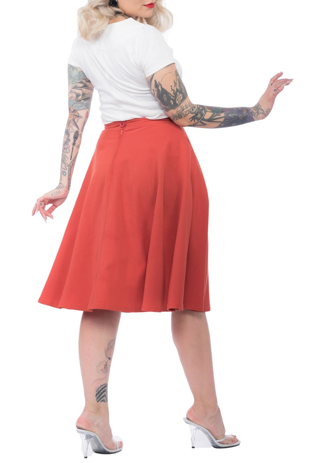 Steady Clothing Pocket Circle Skirt - Front Full Image
