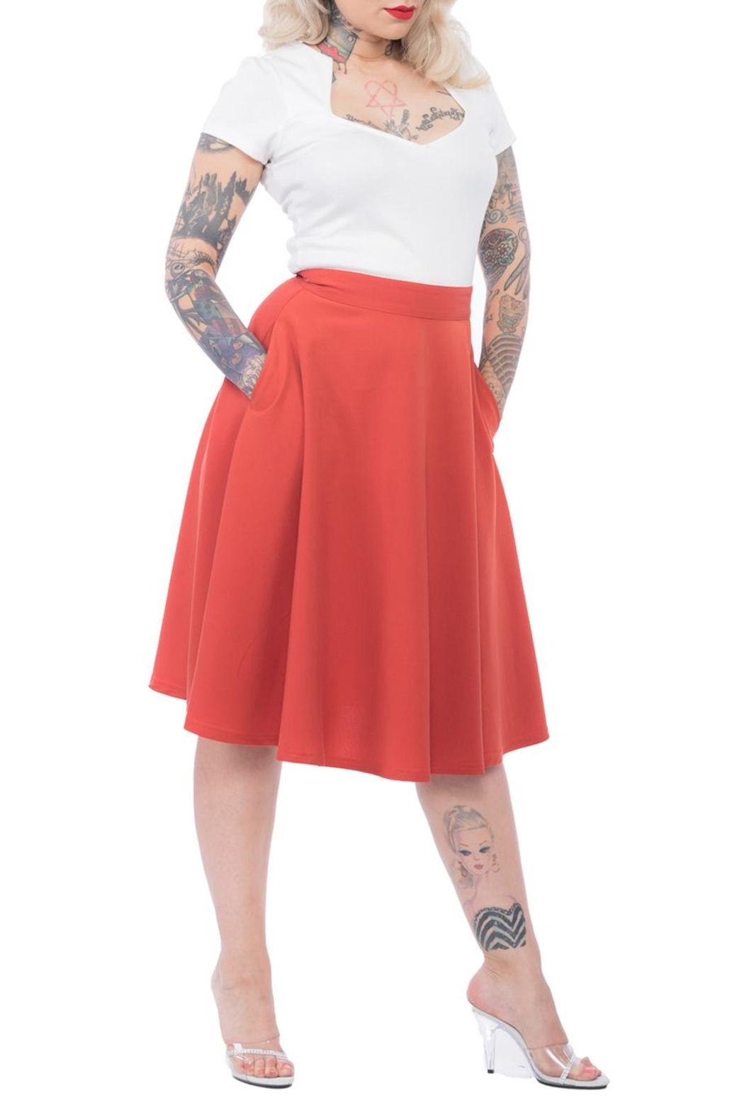 Steady Clothing Pocket Circle Skirt - Front Cropped Image