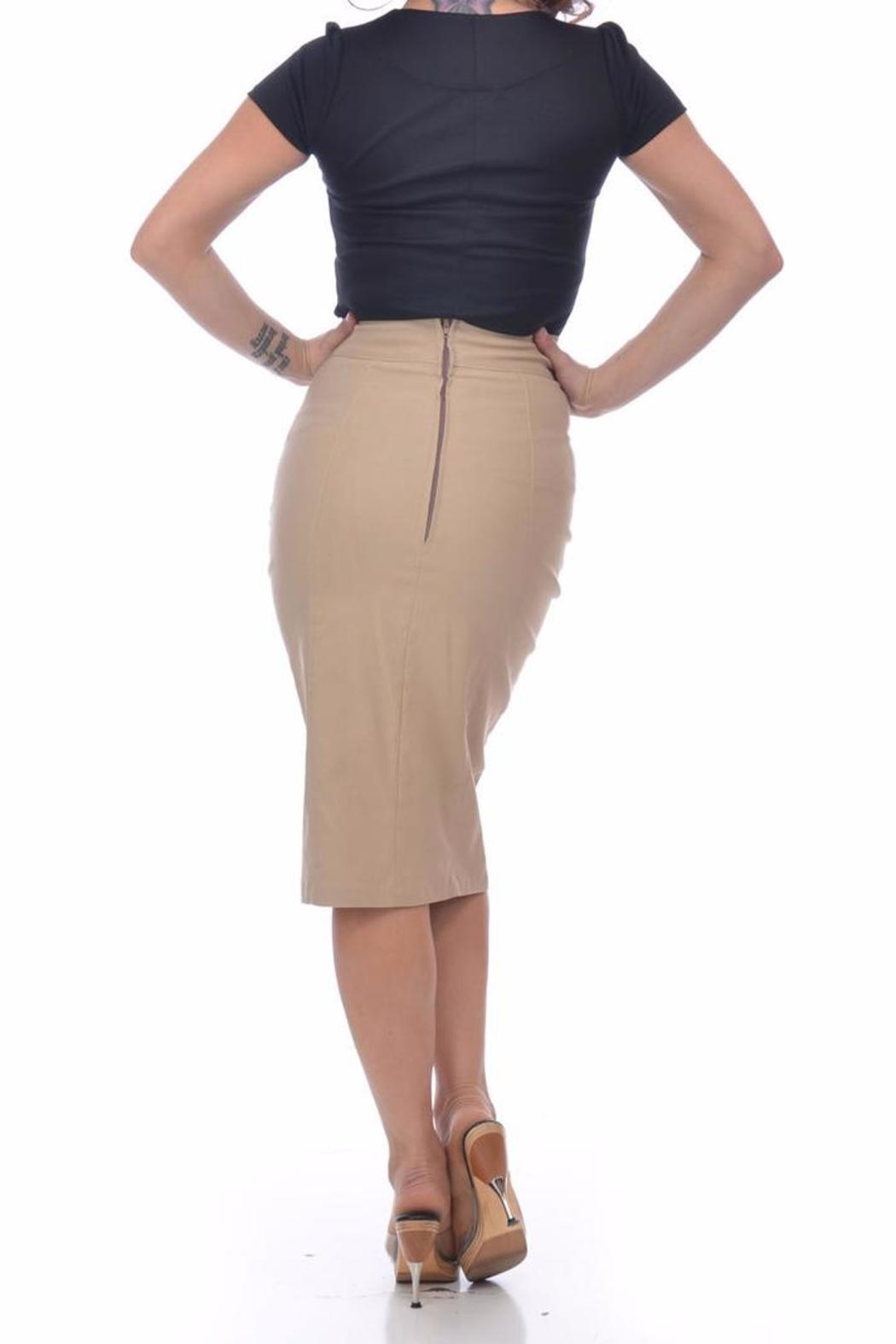 Steady Clothing Sarina Button Skirt - Front Full Image