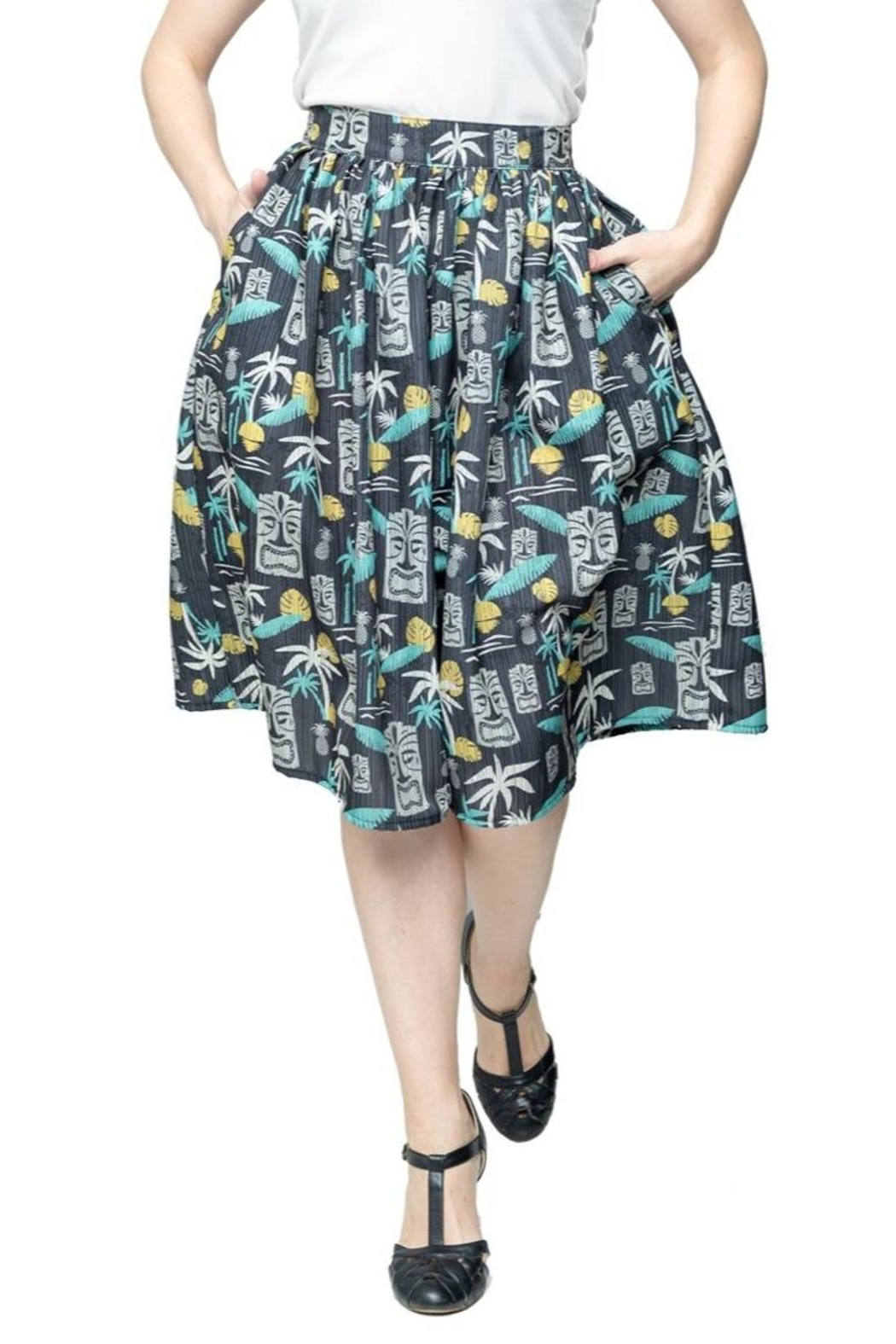 Steady Clothing Tiki Paradise Skirt - Front Cropped Image