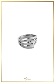 Malia Jewelry Steel Interlaced Ring - Product Mini Image