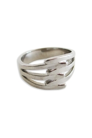 Malia Jewelry Steel Interlaced Ring - Front cropped