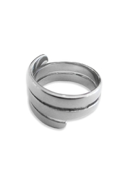 Malia Jewelry Steel Spiral Ring - Product Mini Image