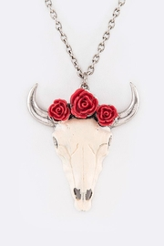 Nadya's Closet Steer Head Necklace - Front cropped