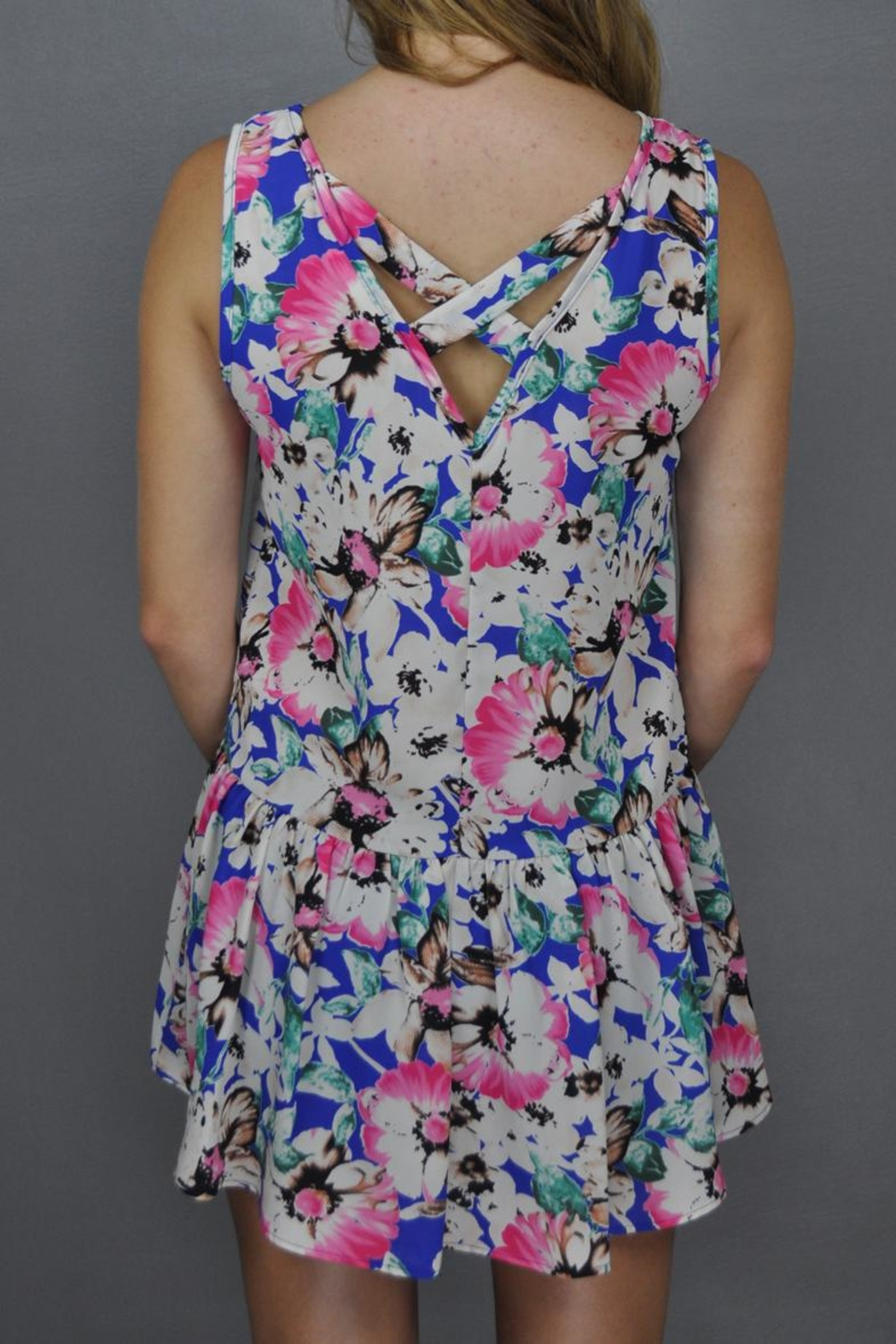 Steezyer Floral Frenzy Dress - Front Full Image