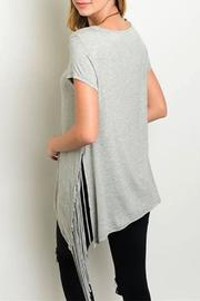 Steezyer Grey Fringe Tunic - Front full body