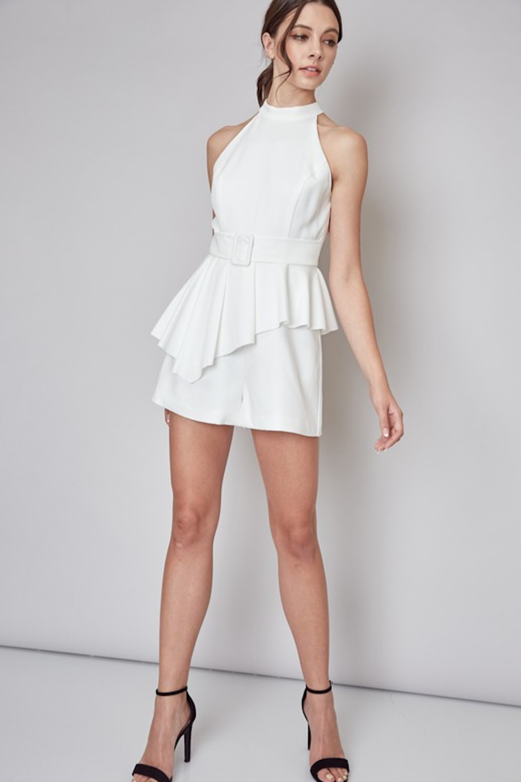 Do + Be  Stella Belted Romper - Back Cropped Image