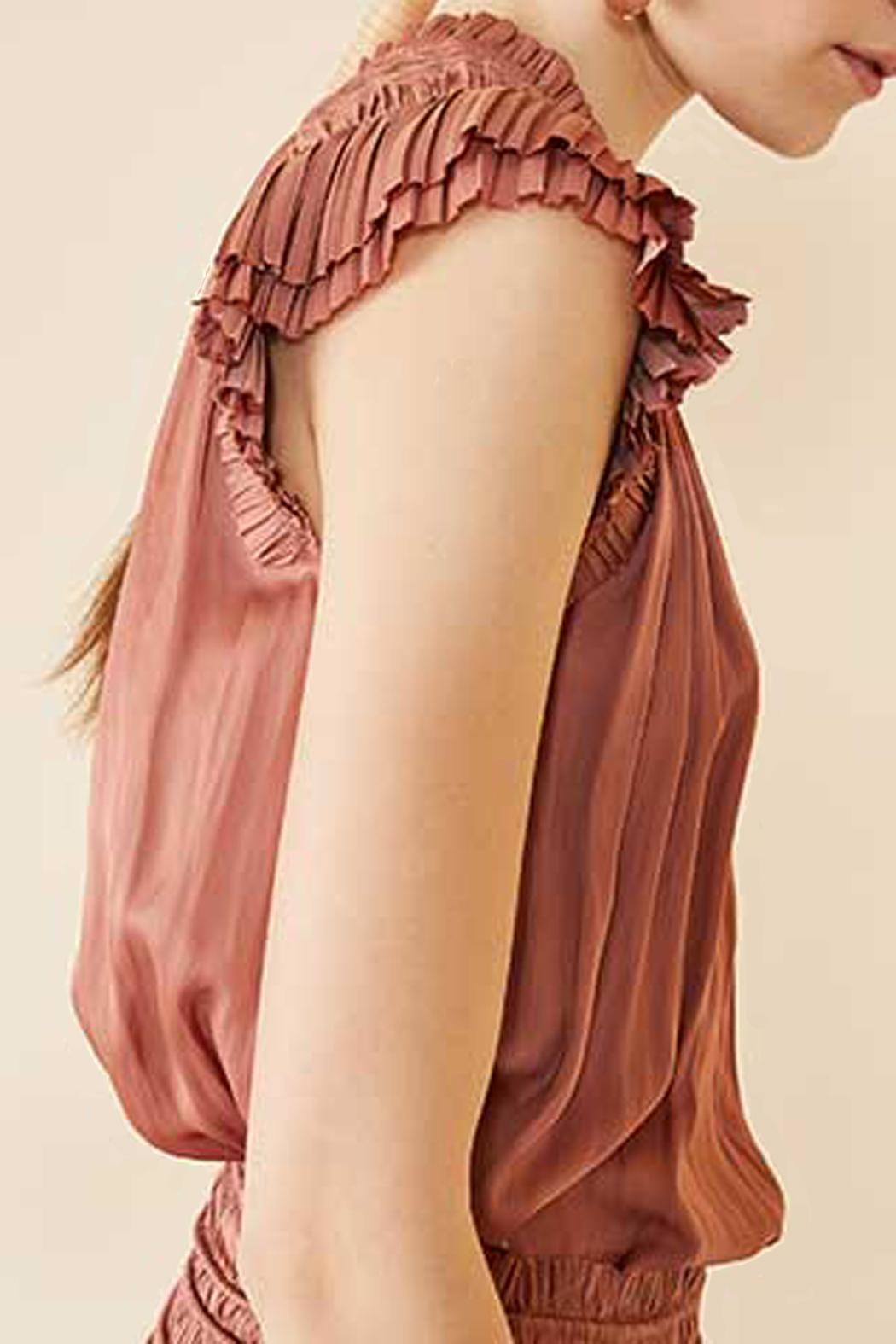 Ulla Johnson Stella Copper Top - Side Cropped Image