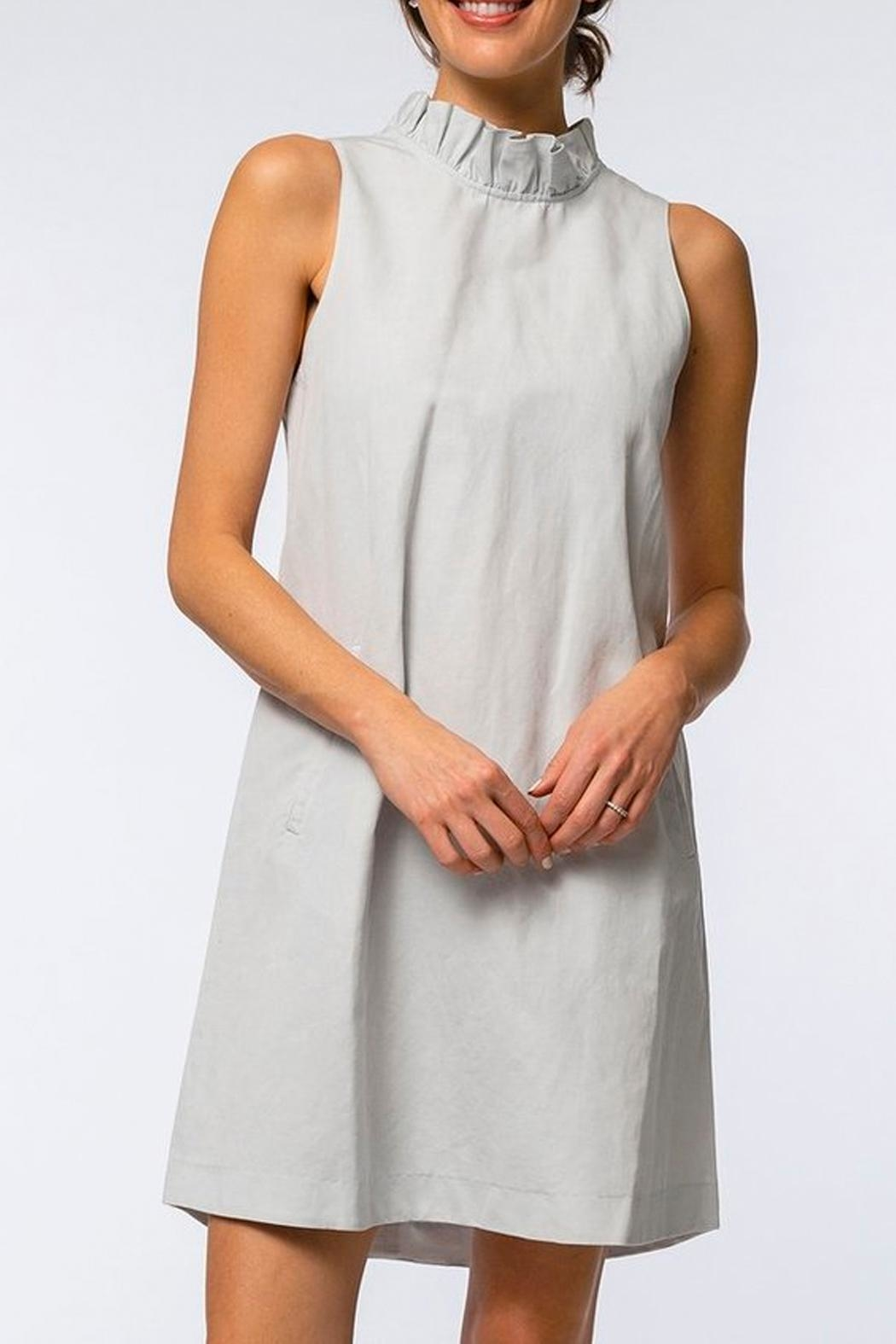 Tyler Boe Stella Cotton-Linen Ruffle-Neck - Front Cropped Image