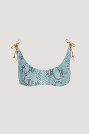 Stella McCartney Timeless Snakeskin Blue Bikini Top - Product Mini Image