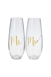Giftcraft Inc.  Stemless Bridal Flutes - Product Mini Image