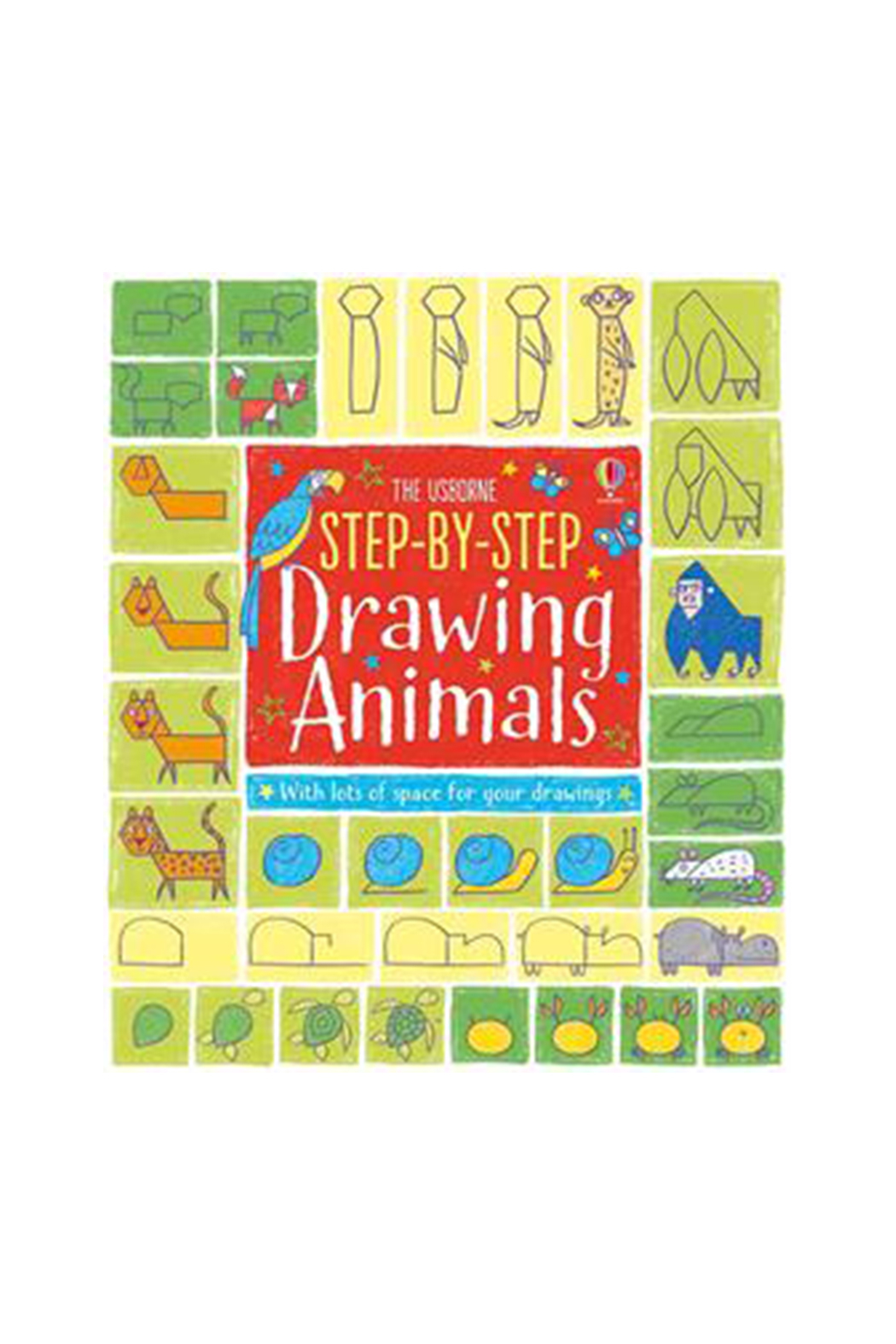 Usborne Step-By-Step Drawing Animals - Main Image