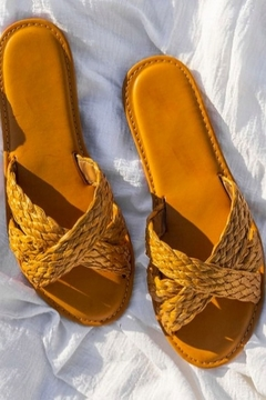 Bamboo Steph Wicker Sandals - Product List Image