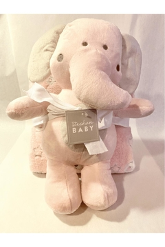 Shoptiques Product: Pink Elephant Blanket & Plush Set