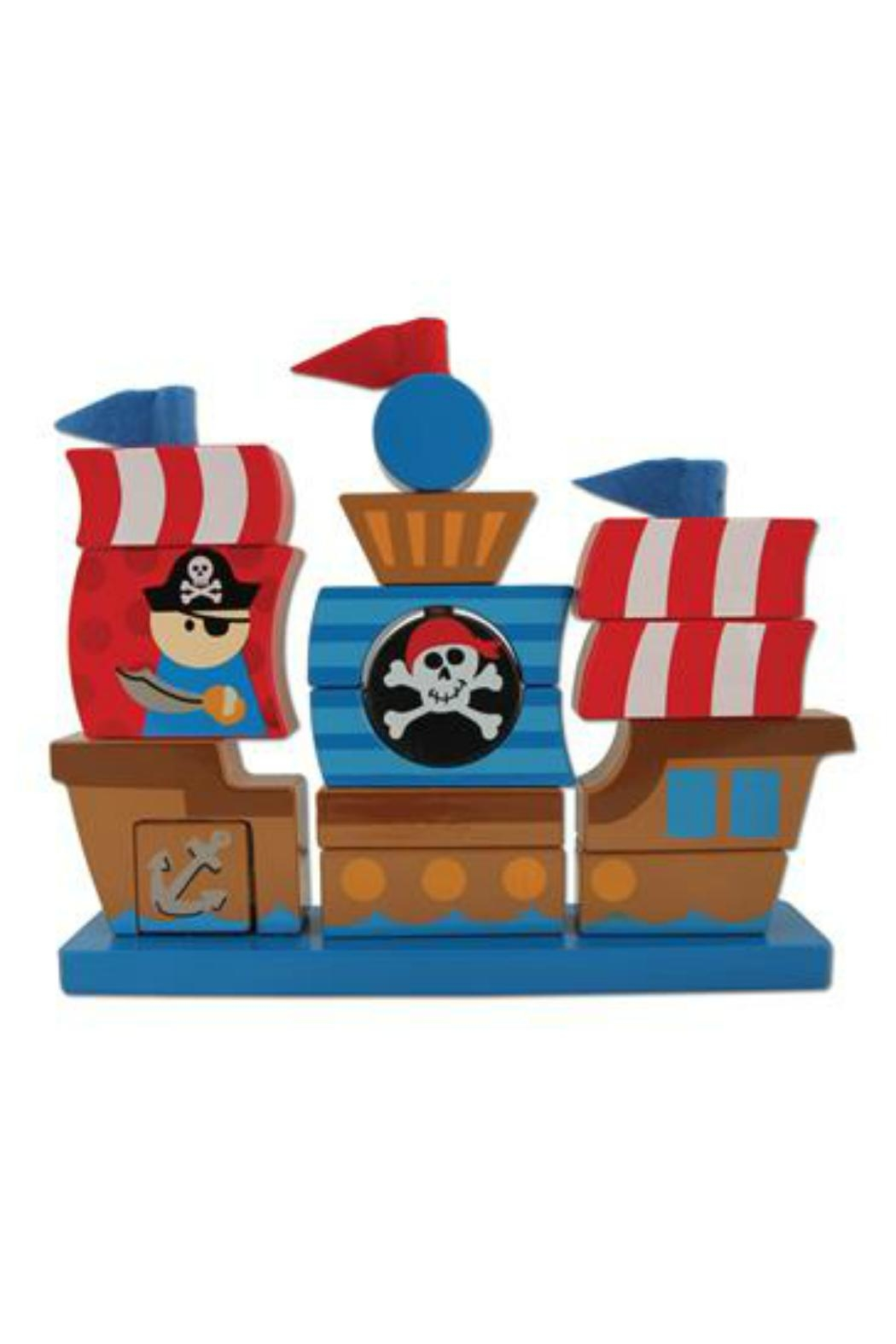 Stephen Joseph Stackable Pirate Blocks - Front Cropped Image