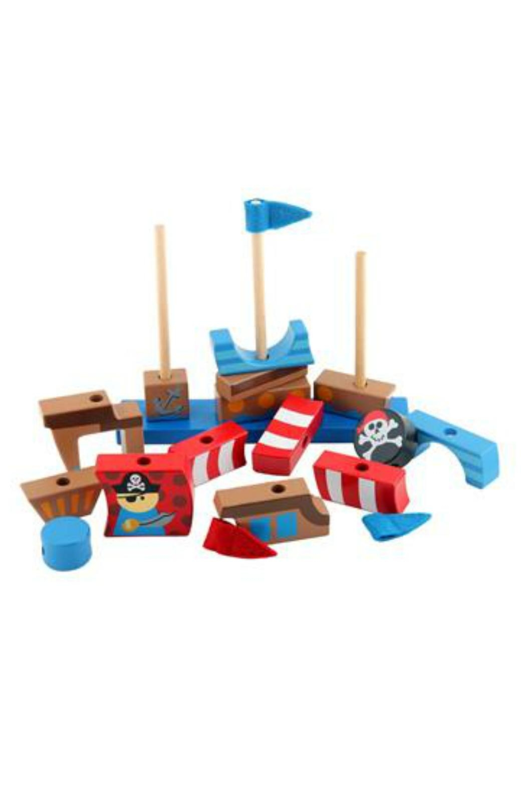 Stephen Joseph Stackable Pirate Blocks - Front Full Image