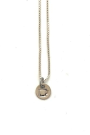 Annie's Arts and Follies Sterling Charm - Steaming Coffee Cup Necklace - Product Mini Image