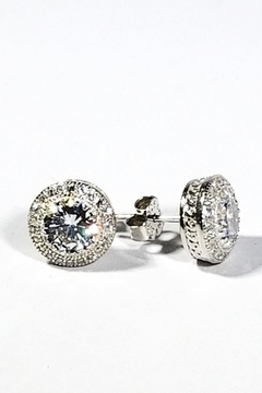 Italian Ice Sterling Halo Studs - Product List Image