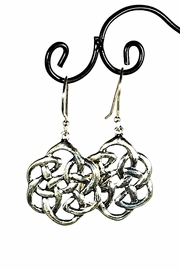 Italian Ice Sterling Mandala Earrings - Front cropped