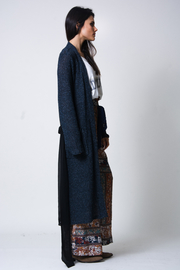 wanderlux  Sterling Mixed Media Cardigan - Front full body