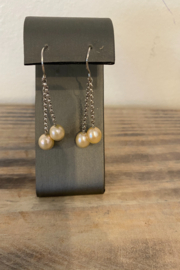 Sterling by Brooks Sterling Pearl Strand Earrings - Product Mini Image