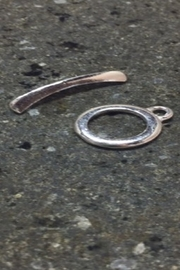 Vachon Designs Sterling Round Clasp - Front full body