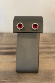 Sterling by Brooks Sterling Rudy Red Stud Earring - Product Mini Image