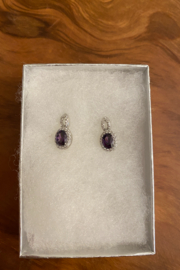 tesoro  Sterling Silver Amethyst Studs - Product Mini Image