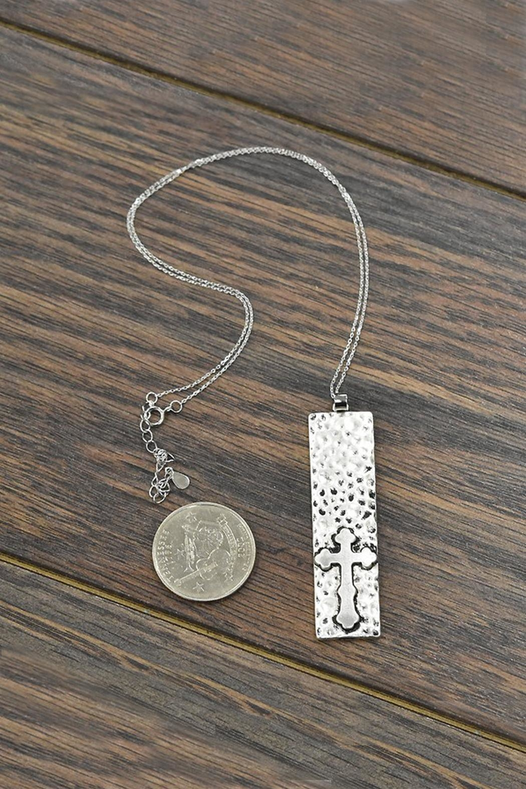 JChronicles Sterling-Silver-Chain Cross-Pendant Necklace - Front Full Image