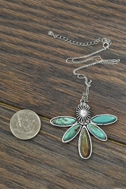 JChronicles Sterling-Silver-Chain Natural-Turquoise Pendant-Necklace - Side cropped