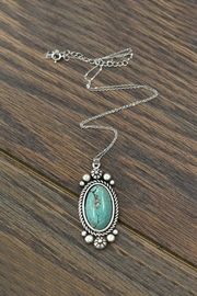 JChronicles Sterling-Silver-Chain-Necklace With Natural-Turquoise-Pendant - Product Mini Image