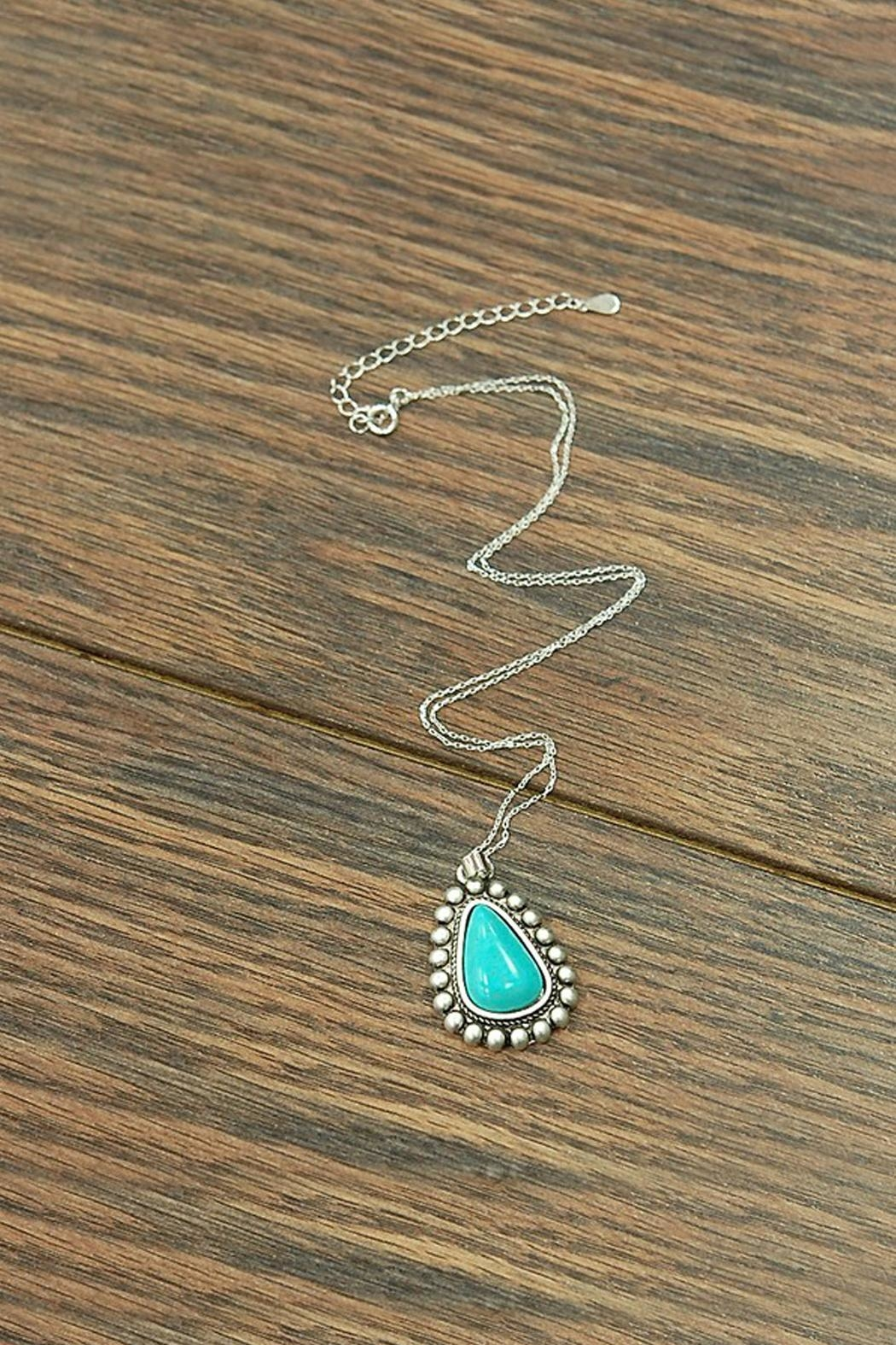 JChronicles Sterling-Silver-Chain-Necklace With Natural-Turquoise-Pendant - Main Image