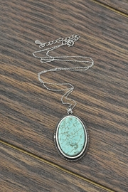JChronicles Sterling-Silver-Chain With Natural-Turquoise-Necklace - Product Mini Image