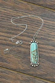 JChronicles Sterling-Silver-Chain With Natural-Turquoise-Pendant-Necklace - Product Mini Image