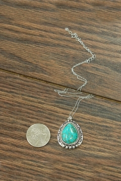 JChronicles Sterling-Silver-Chain With Natural-Turquoise-Pendant - Alternate List Image