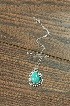 JChronicles Sterling-Silver-Chain With Natural-Turquoise-Pendant - Product List Image