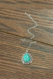 JChronicles Sterling-Silver-Chain With Natural-Turquoise-Pendant - Product Mini Image