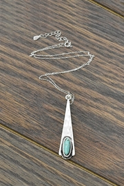 JChronicles Sterling-Silver-Chain With Natural-Turquoise-Stone-Pendant - Product Mini Image