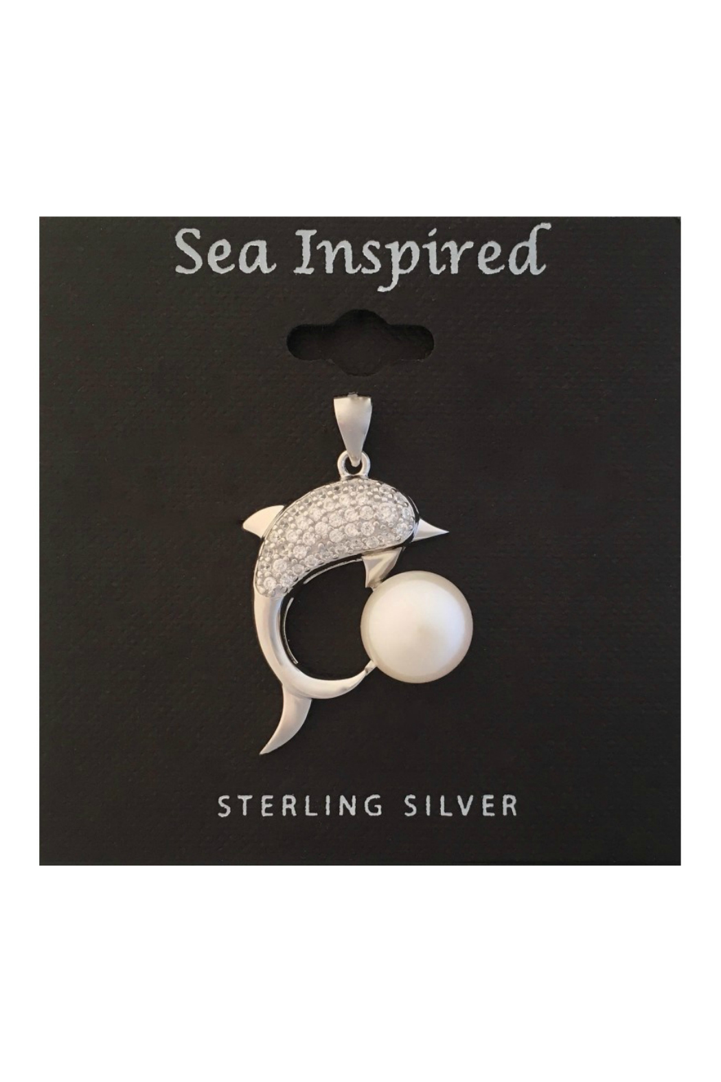 Presco Sterling Silver Dolphin Pendant with Fresh Water Pearl - Main Image