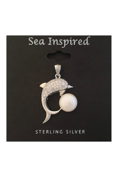 Presco Sterling Silver Dolphin Pendant with Fresh Water Pearl - Product List Image