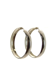 Silver Stars Collection Sterling-Silver Hoop Earrings - Product Mini Image