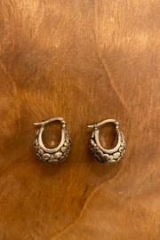 tesoro  Sterling Silver Hoops - Front cropped