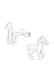Silver Jewels Sterling Silver Horse Stud Earrings - Product Mini Image