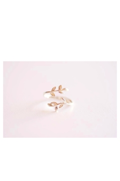 Shoptiques Product: Sterling-Silver Leaf Ring