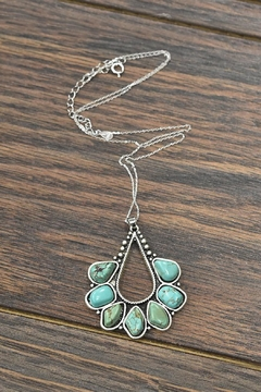 Shoptiques Product: Sterling-Silver Natural-Turquoise-Stone Necklace