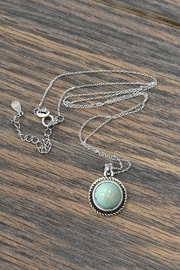 JChronicles Sterling-Silver Natural-Turquoise-Stone Necklace - Product Mini Image
