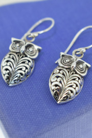 ... Sterling Silver Owl Earrings - Product Mini Image