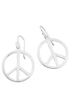 Tomas Sterling Silver Peace Sign Earrings - Alternate List Image