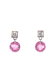 Diane's Accessories Sterling-Silver Pink Earrings - Product Mini Image
