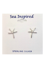 Presco STERLING SILVER STARFISH POST EARRINGS - Product Mini Image